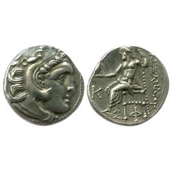 KINGS of MACEDON, AR drachm, Alexander III (the Great, 336-323 BC), early posthumous issue under Ant