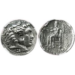 KINGS of MACEDON, AR tetradrachm, Alexander III (the Great), 336-323 BC, posthumous issue under Sele