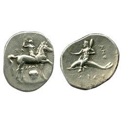 CALABRIA, Tarentum, AR nomos, ca. 281-272 BC.
