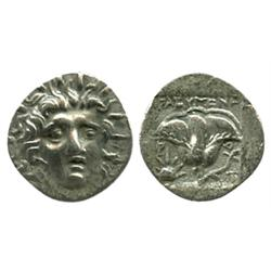 ISLANDS off CARIA, Rhodes, AR hemidrachm, magistrate Thrasymenes, ca. 170-150 BC.