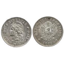Argentina, 20 centavos, 1882.