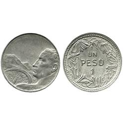 Santiago, Chile, pattern 1 peso, (1929), no date or country or fineness.