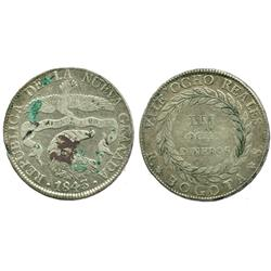 Bogota, Colombia, 8 reales, 1843RS.