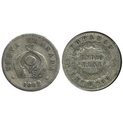 Popayan, Colombia, 1/2 real, 1862/48.