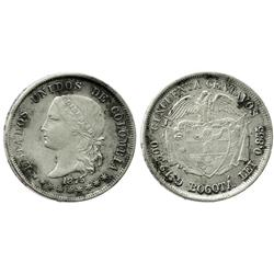 Bogota, Colombia, 50 centavos, 1875.