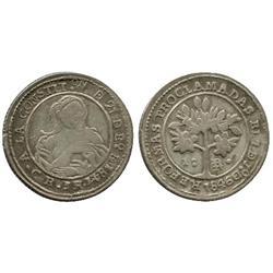 Costa Rica, 1 real, 1847JB.