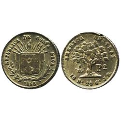 Costa Rica, 1/16 peso, 1855JB.