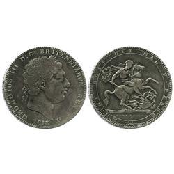 London, England, crown, George III, 1818.