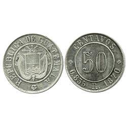 Guatemala, 50 centavos, 1870-R.