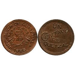 Guatemala, copper 1 centavo, 1925.