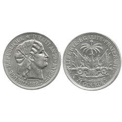 Haiti (Republic), 1 gourde, 1882 (AN 79).