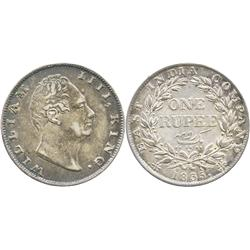 India (British), rupee, William IV, 1835.
