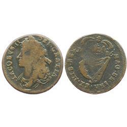 Ireland, copper half penny, James II, 1686.
