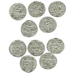 Lot of 5 Venice, Italy, grossos, ca. 1250-1350 AD.