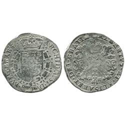 Brabant (mint uncertain), Netherlands, patagon, Albert-Isabel (1598-1621), no date.