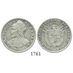 Panama, 5 centesimos de balboa, 1916, rare.
