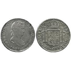 Lima, Peru, bust 4 reales, Ferdinand VII, 1821JP.