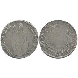 Pasco, Peru, 4 reales, 1844M.