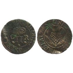 Scotland, copper Turner twopence, Charles II, Earl of Sterling (1632-39).