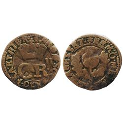 Scotland, copper bawbee, Charles II (1649-51 and 1660-85).