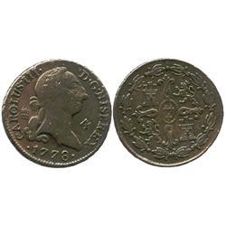 Segovia, Spain, copper 4 maravedis, Charles III, 1778.