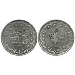 Turkey, 20 kurush, Muhammad V, 1916 (AH 1335).