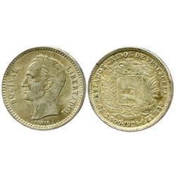 Venezuela (struck in Philadelphia), 1/2 bolivar, 1924.