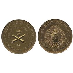 Argentina, bronze medal, 1897, Battle of Chacobuco (1817), made from a cannon from that battle.