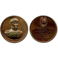 Argentina, copper medal, 1903, Belgrano commemorative.