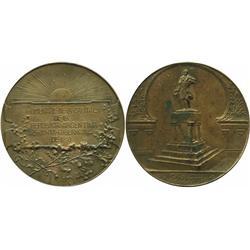 (La Plata), Argentina, large copper medal, 1910 Castelli Independence centennial.