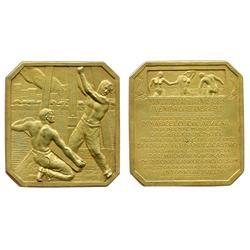 "Buenos Aires, Argentina, vermeil (gilt silver) medal (""PLATA"" on edge), 1927, Avenida Costanero comm"