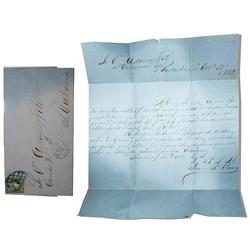 1862 Cuban letter and envelope with stamp.