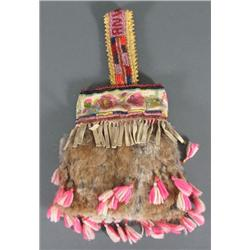 Early RNWP Decorated Fur Bag