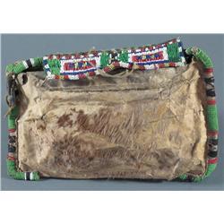 Beaded Hide Sewing Bag