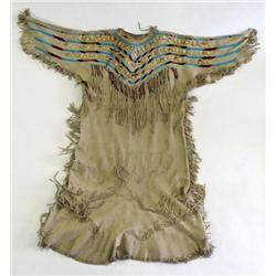 Fringed and Beaded Hide & Elk Tooth Dress