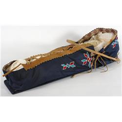 Beaded Cradle Board with Bent Wood Visor