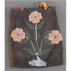 Early Beaded Cloth Bag