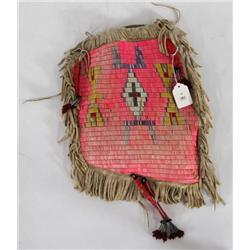 Quilled & Fringed Hide Bag