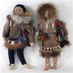 Male & Female Inuit Dolls