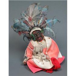 Apple Head Native American Doll