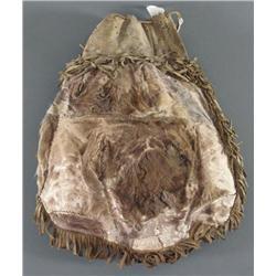 Caribou Drawstring Bag with Fringe