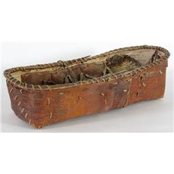 Birch Bark Cradle Board Basket