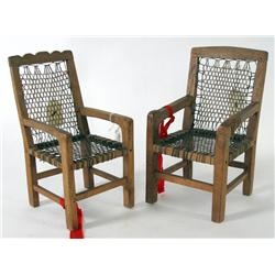 Two Doll Chair Models