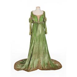 Mary Pickford green velvet gown with beaded bodice from The Taming of the Shrew