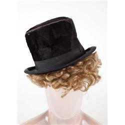 Harpo Marx signature historic vintage top hat and wig acquired directly from him