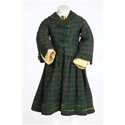"Shirley Temple ""Virginia Cary"" green plaid period dress with jacket from The Littlest Rebel"