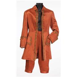 Ronald Colman Salmon satin period coat, pantaloons, mauve satin period outfit from Clive of India