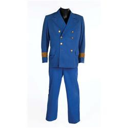 "W. C. Fields ""Commodore Jackson"" royal blue 2-piece captain's suit from Mississippi"