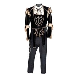 "Leslie Howard ""Romeo Montague"" black velvet doublet and pants from Romeo and Juliet"