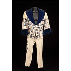 Leslie Howard ivory leather doublet with blue velvet collar and ivory pants from Romeo and Juliet